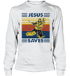 Jesus Saves Hockey Vintage Funny Shirt