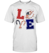 Independence Day Love Fishing 4th Of July Shirt