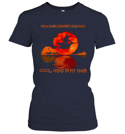 Witch On A Dark Desert Highway Cool Wind In My Hair Sunset Halloween Shirt