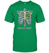 St Patricks Day Skeleton Irish Heart Funny Shirt