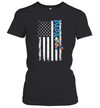 Papa Autism Awareness American Flag Shirt