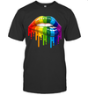 Lips Rainbow Shirt Lips Pride LGBT Gay Homosexual Lesbian Gifts