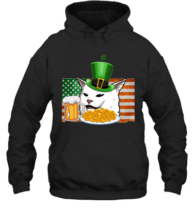 Saint Patricks Confused Cat Meme St Patrick's Day Smudge Shirt