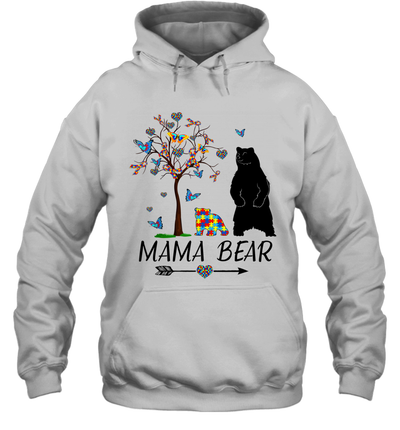 Mama Bear Autism Awareness Love Support Autism Mom Mommy Shirt