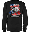 Being A Dad Is An Honor Being A Papa Is Priceless American Flag Shirt Funny Father's Day Gift