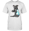 Funny Strong Pitbull Dog I Love Dad Tattoo Father's Day Gift Shirt