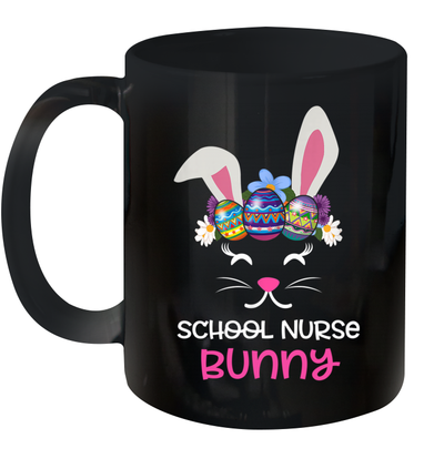 School Nurse Bunny Face Egg Costume Easter Day Gift Mug