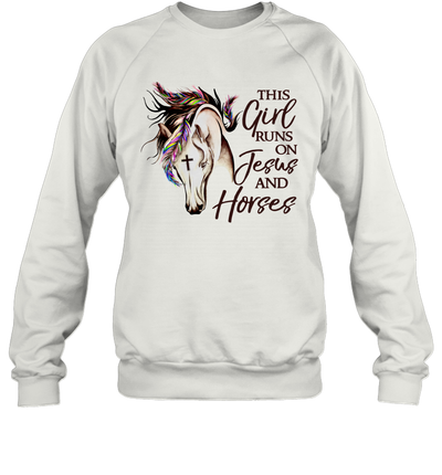 This Girl Runs On Jesus And Horses Christians Horses Shirt