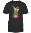 Happy Easter Cute Leopard Bunny Rabbit T-Shirt