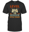 Level 13 Unlocked Official Teenager 13th Birthday 13 Years Old Gift Shirt Funny Birthday Gift