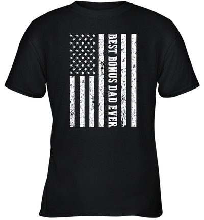 Best Bonus Dad Ever American Flag Shirt Funny Father's Day Gifts