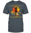 Black Cat Witch Hat On A Dark Desert Highways Cool Wind In My Hair Halloween Shirt