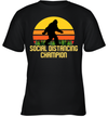 Bigfoot Social Distancing Champion Funny Shirt