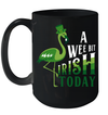 Flamingo A Wee Bit Irish Today St Patrick's Day Gift Mug