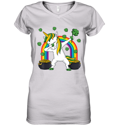 Dabbing Unicorn St Patricks Day Irish Dab Girls Kids Shirt