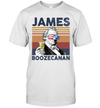 James Boozecanan US Drinking 4th Of July Vintage Shirt Independence Day American T-Shirt