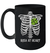 St Patricks Day Skeleton Irish Heart Funny Mug