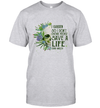 Skull I Garden So I Don't Choke People Save A Life Send Mulch Shirt
