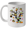 Baby Yoda And Pumpkin Tree Halloween Funny Mug