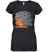 I Am Black Excellence Strong Woman Word Art Hair Shirt