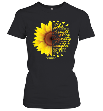 Christian Bible Verse Sunflower Scripture Religious Gift Shirt