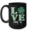 Love Shamrock Pre-K St Patrick's Day Teacher Mug