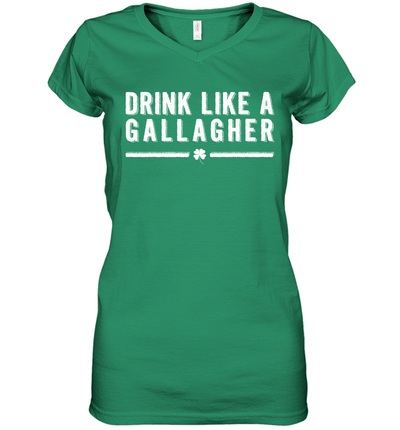 Drink Like A Gallagher St Patrick's Day Leprechaun Beer Shirt