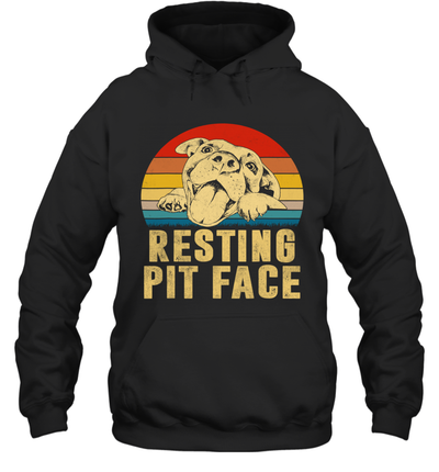 Dog Pitbull Resting Pit Face Vintage Shirt