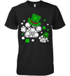 Dog Paws Hat Leprechaun St Patricks Day Shamrock Dog Lover Shirt