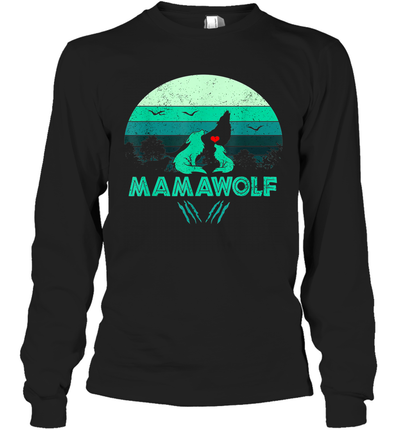 Vintage Mamawolf Funny Wolf Mama Mother's Day Gift Shirt
