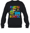 Dinosaur T-Rex Roaring Into 100 Days Of School Shirt