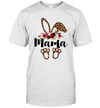 Bunny Easter Mama Leopard Print T-Shirt Rabbit Funny Shirt Mom Graphic Tees Top