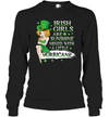 Irish Girls Are Sunshine Mixed A Little Hurricane Shirt