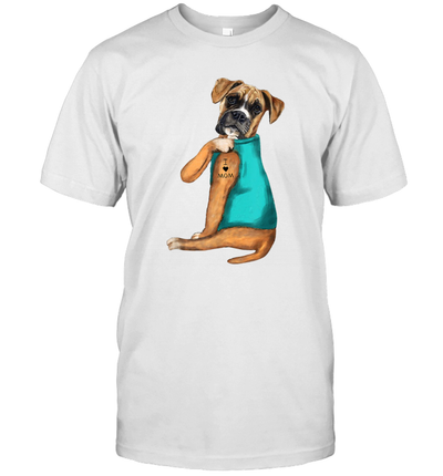 Boxer Tattoo I Love Mom Gift Mother's Day Shirt