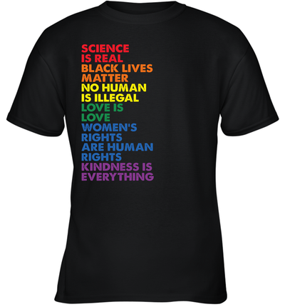 Distressed Science Is Real Black Lives Matter LGBT Pride Shirt Love is Love T-Shirt