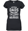Awesome Dads Have Tattoos And Beards Gift Funny Father's Day Shirt