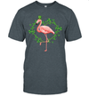 Flamingo Shamrock Heart Irish St Patrick's Day Funny Shirt