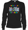 Dare To Be Different Elephants Autism Awareness Day Gift Shirt