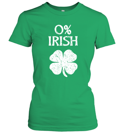 0% Irish St Patrick's Day Graphic Funny Shirt
