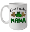 Funny One Lucky NaNa Leopard Plaid St Patrick's Day Gift Mug