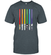 Lgbt Flag Light Swords Gay Pride Sword Gift Shirt