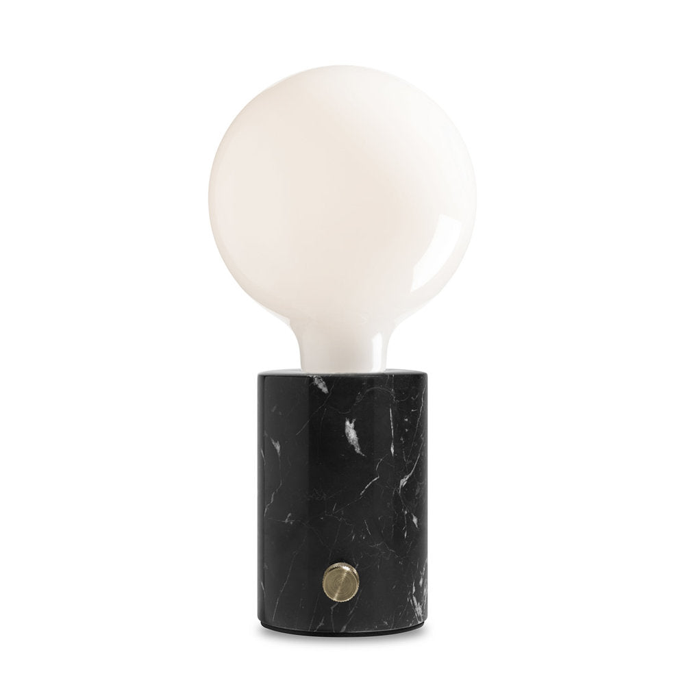 Orbis Black Marble Opaque Lamp