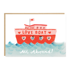 Love Boat Valentine's Card
