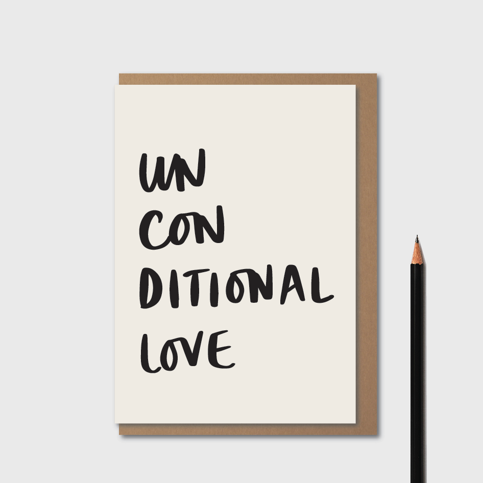 Unconditional Love White - Card