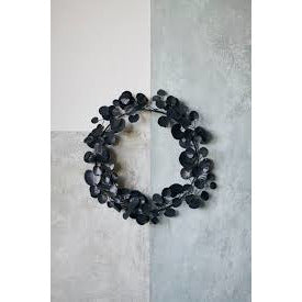 Black Metal Eucalyptus Wreath