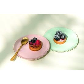 Pink, Gold Rimmed Plate