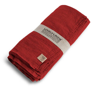 Red Linen Tablecloth