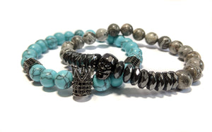 King Howlite The Blue Stack