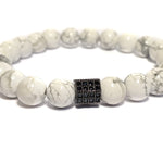 Beaded White Howlite
