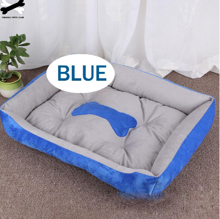 Dog Bed Bone Design Warm Washable Cotton